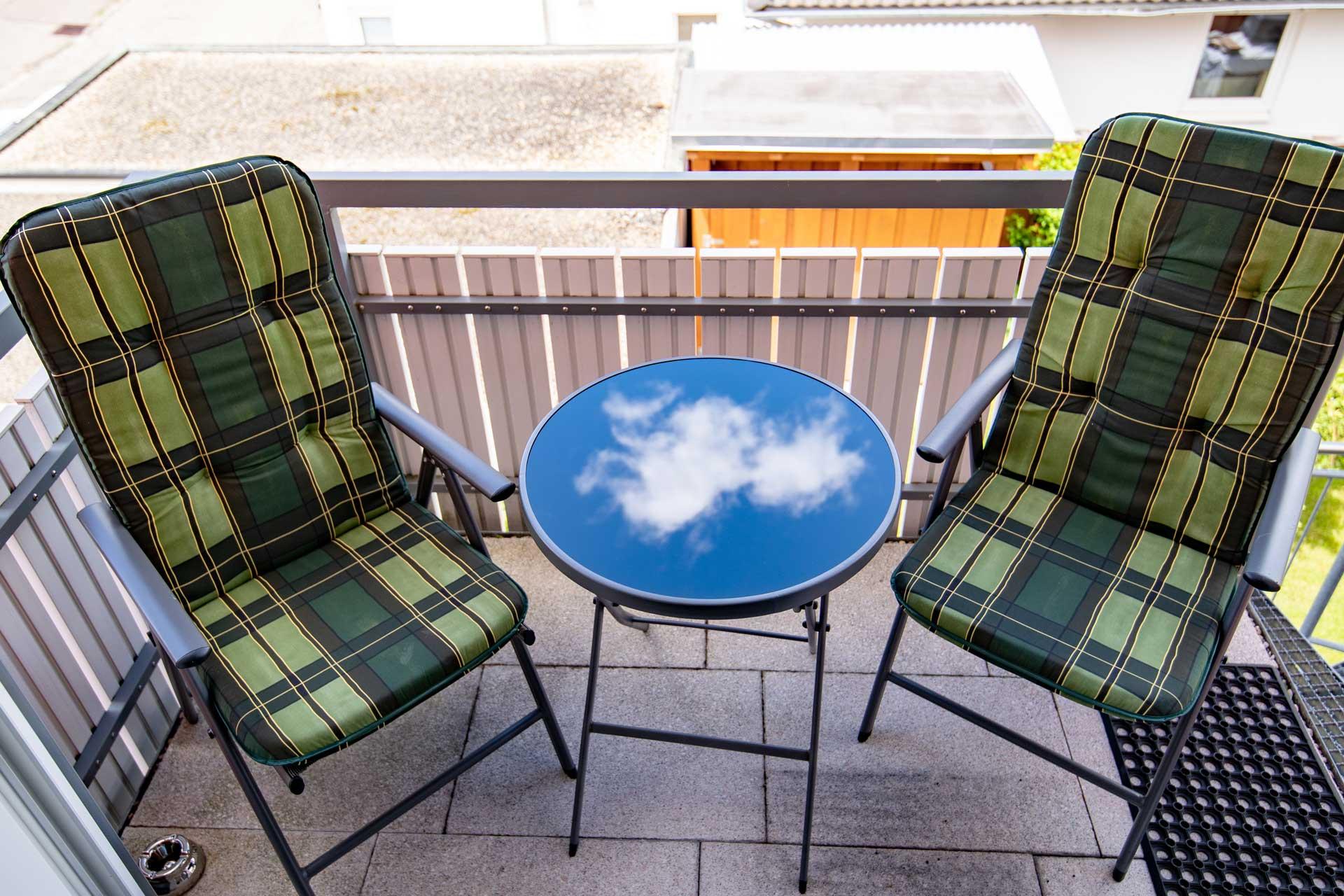 Ferienwohnung Bodensee Balkon Wolken im Sommer